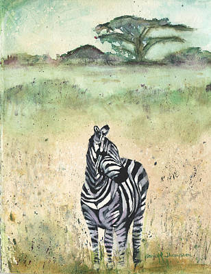 Painting - Zebra by Denice Palanuk Wilson