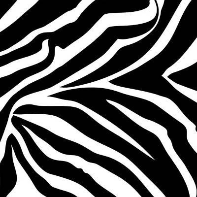 Digital Art - Zebra Design  by Chuck Staley