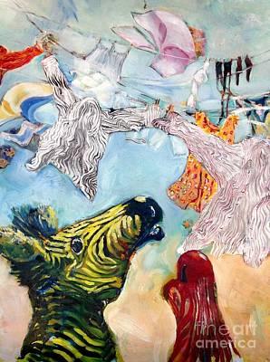 Zebra Ghosts Original by Chris Irwin Walker