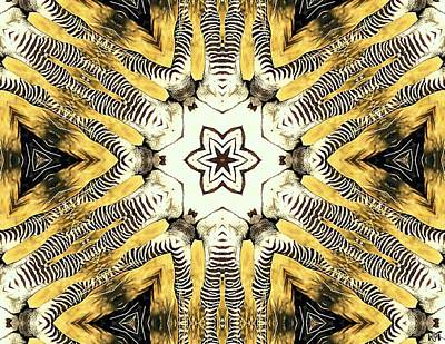 Digital Art - Zebra I by Maria Watt