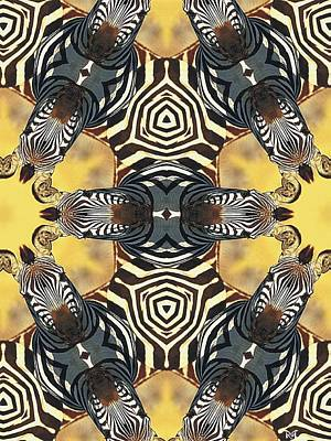 Digital Art - Zebra II by Maria Watt