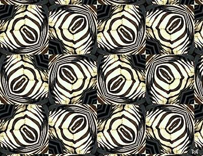 Digital Art - Zebra IIi by Maria Watt