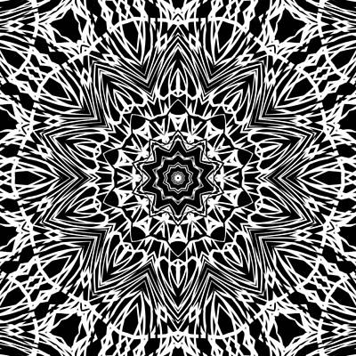 Digital Art - Zebra Inspired Kaleidoscope by Kristalin Davis