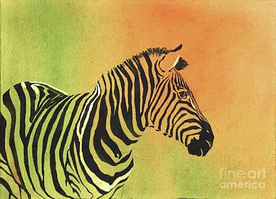 Painting - Zebra Iv by Ryan Fox