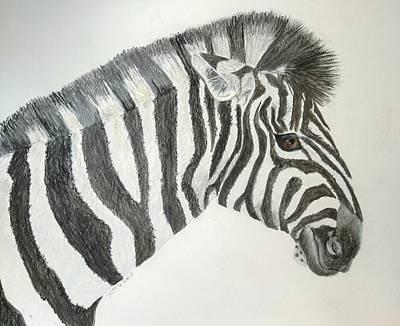Pastel - Zebra by Joan Mansson
