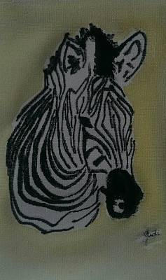 Painting - Zebra by Judi Goodwin