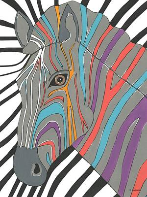 Painting - Zebra by Kathleen Sartoris