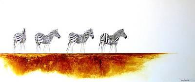 Zebra Landscape - Original Artwork Art Print