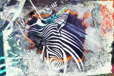 Zebra Painting - The Zebra by Leon Bonaventura and Filiberto Bonaventura