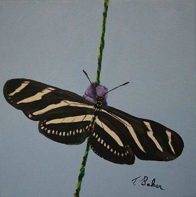 Painting - Zebra Longwing by Tony Baker