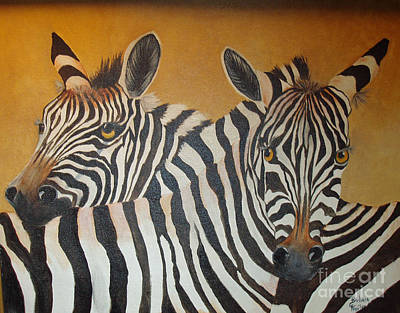 Painting - Zebra Love by Barbara Haviland