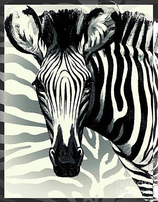 Mammals Royalty-Free and Rights-Managed Images - Zebra by Mindy Sommers