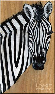 Painting - Zebra by Minnie Lippiatt