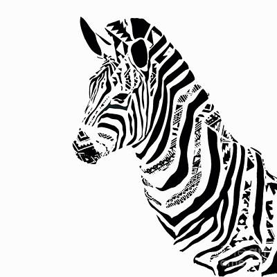 Painting - Zebra Mosaic by Saundra Myles