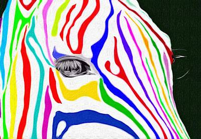 Painting - Zebra Nothing Is Black And White by Mark Taylor