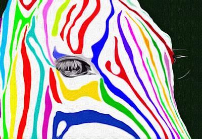 Zebra Nothing Is Black And White Art Print