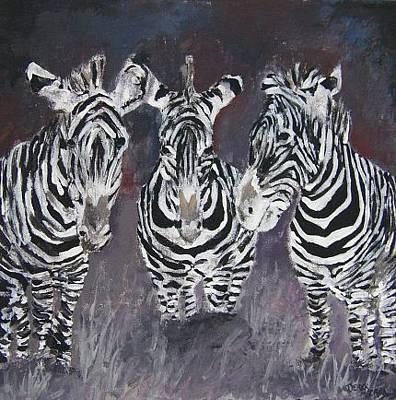 Zebra Painting - Zebra Oil Painting by Derek Mccrea