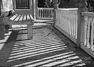 Zebra Porch Art Print by Betsy Zimmerli