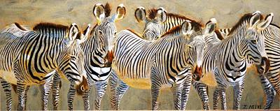Painting - Zebra Herd by John Neeve