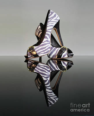 Photograph - Zebra Print Stiletto Shoes by Terri Waters