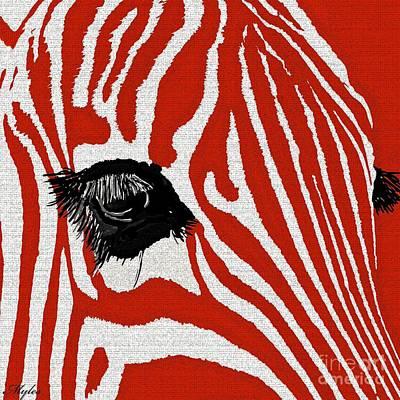 Painting - Zebra Red by Saundra Myles