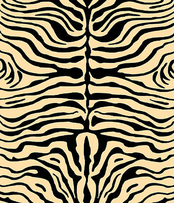 Digital Art - Zebra Stripes by Vagabond Folk Art - Virginia Vivier