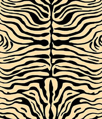 Digital Art - Zebra Stripes by Vagabond Folk Art - Virginia Vivier