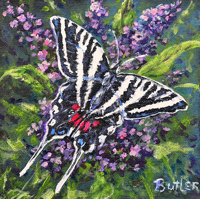Painting - Zebra Swallowtail by Gail Butler