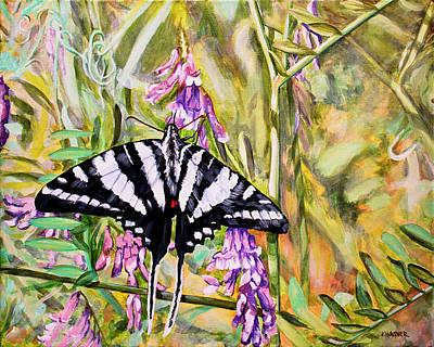 Zebra Swallowtail Painting - Zebra Swallowtail by Karl Wagner