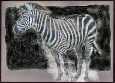 Painting - Zebra by Thomas Tribby