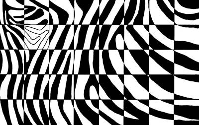 Zebra Patterns Painting - Zebra by Viktor Stakhov