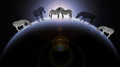 Digital Art - Zebra World by Ericamaxine Price