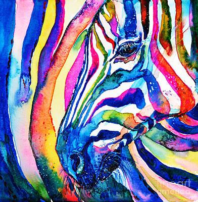 Painting - Zebra - Zebra by Zaira Dzhaubaeva