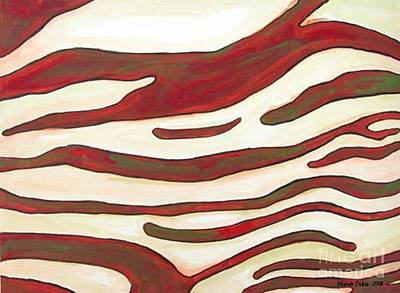 Painting - Zebra Zone - Color On White by Sheron Petrie