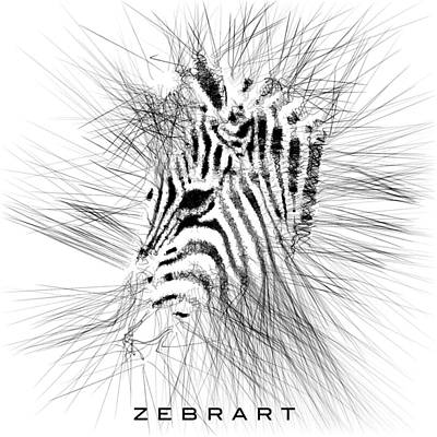 Digital Art - Zebrart by ISAW Gallery
