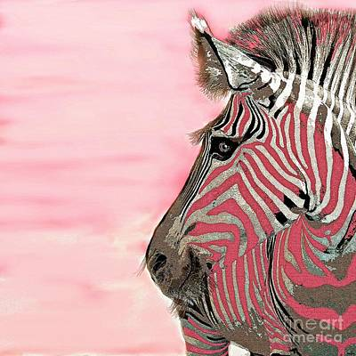 Painting - Zebras Are Pink by Saundra Myles