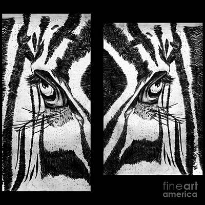Zebras Eye - Studio Abstract Black And White Original