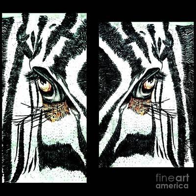Zebras Eye - Studio Abstract  Original