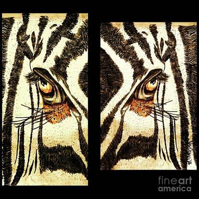 Zebras Eye - Studio Abstract Sepia Original by Scott D Van Osdol