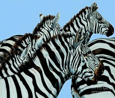 Painting - Zebra's In A Herd by Cheryl Poland