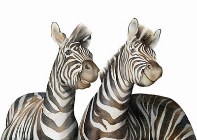 Painting - Zebras Watercolor by Zapista