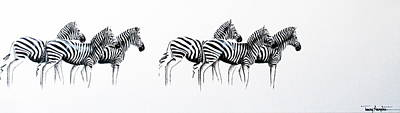 Painting - Zebrascape - Original Artwork by Tracey Armstrong
