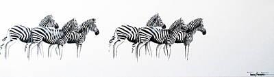 Zebrascape - Original Artwork Art Print