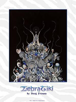 Photograph - Zebratiki Poster by Douglas Fromm
