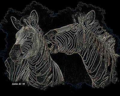 Digital Art - Zebrax2 by Larry Linton