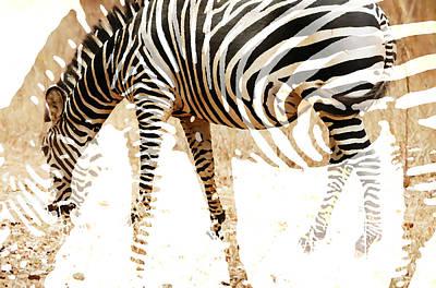 South Africa Zebra Painting - Zebrazigzag  by Enki Art