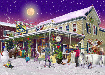 Digital Art - Zebs General Store In North Conway New Hampshire by Nancy Griswold