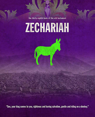 Zechariah Books Of The Bible Series Old Testament Minimal Poster Art Number 38 Art Print