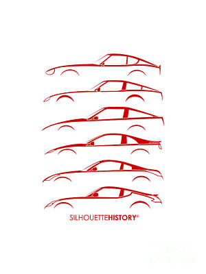 Z Digital Art - Zee Car Silhouettehistory by Gabor Vida