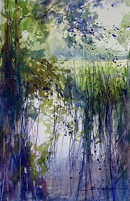 Painting - Zeeland Wetlands July 2017 by Sandra Strohschein